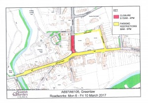 Details of Road Closure for works on A697.