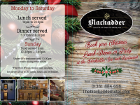 Enjoy a fabulously festive Countryside Christmas this year at The Blackadder Hotel